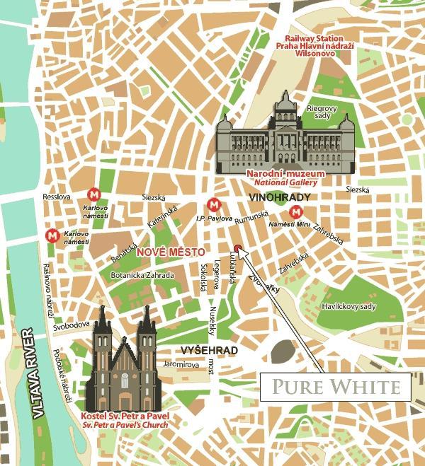 Location pure white hotel prague for Prague location